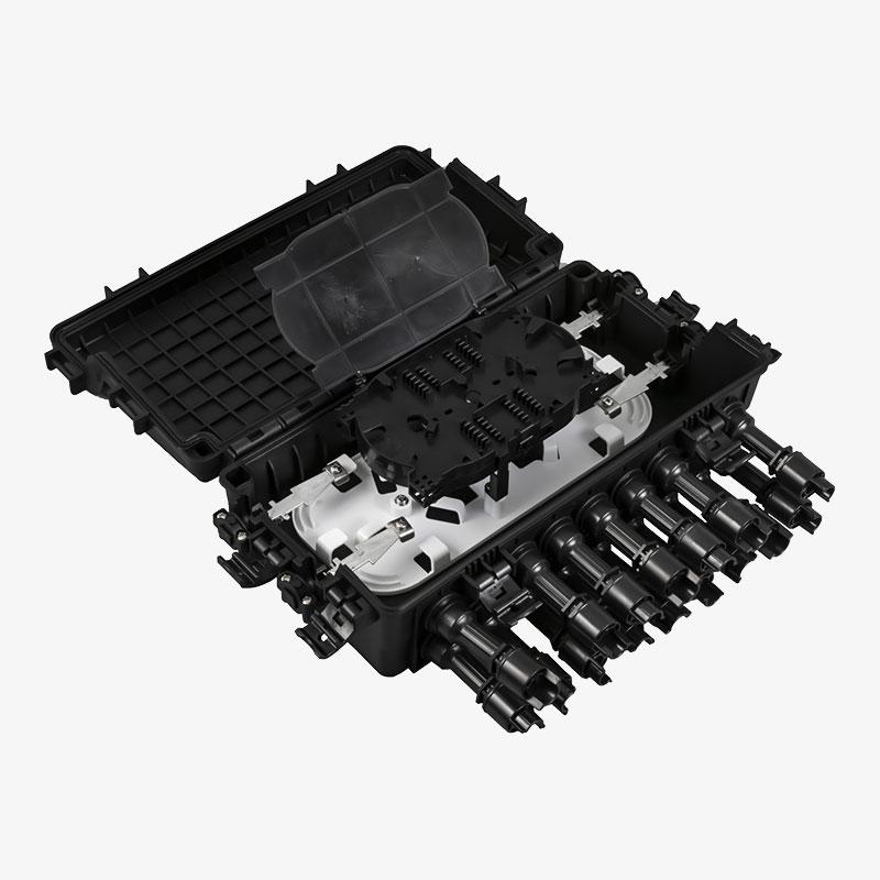 Black FTTH outdoor distribution box IP68-IP67 FOSB-006