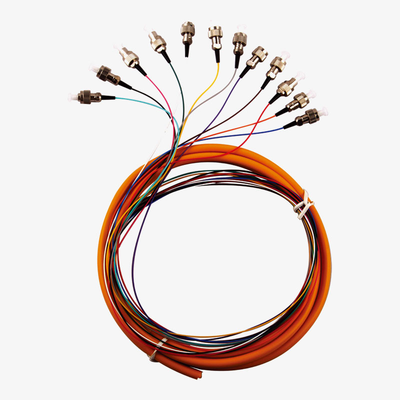 Patch Cord 12 Multi colors pigtail FC/UPC